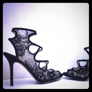 Jimmy Choo shoes lace and velvet